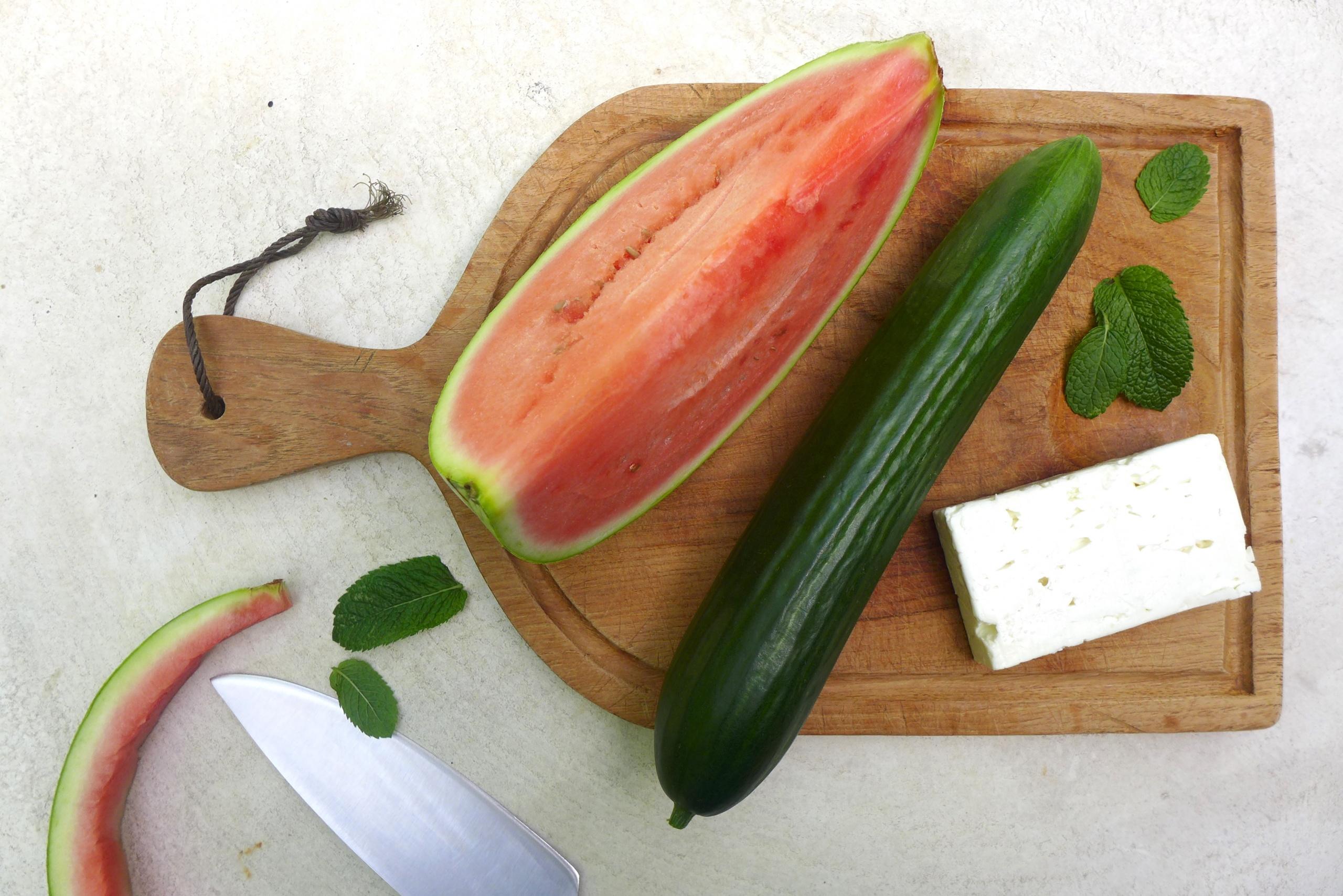 Diabetes Rezepte Salat Wassermelone Feta