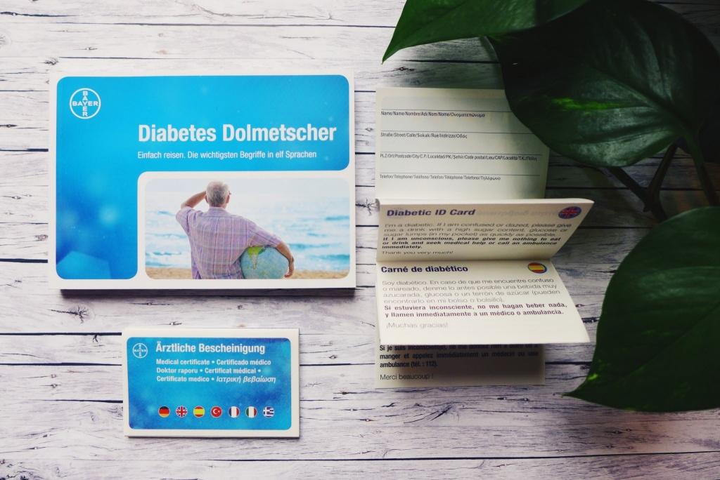 Reisen mit Diabetes Dolmetscher Ausweis