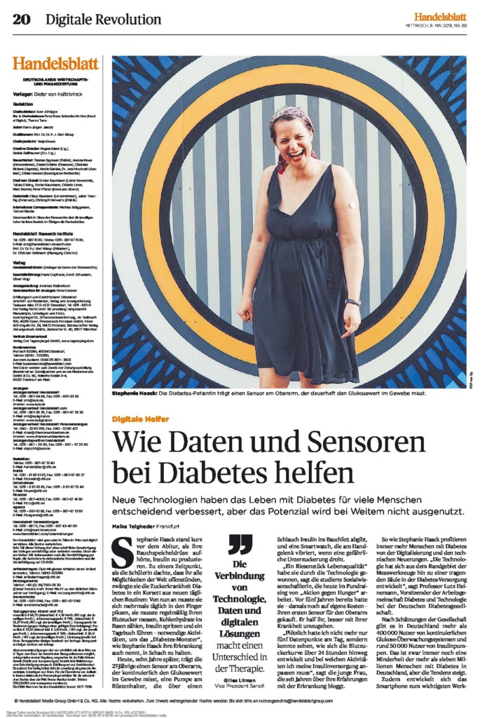 Handelsblatt Artikel Stephanie Haack Diabetes Blog